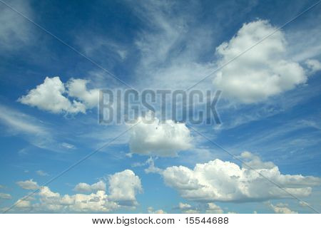 Clouds on sky. Background