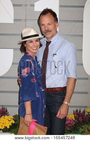 LOS ANGELES - NOV 5:  Constance Zimmer, Russ Lamoureux at the 33rd Breeder's Cup World Championship at the Santa Anita Park on November 5, 2016 in Arcadia, CA
