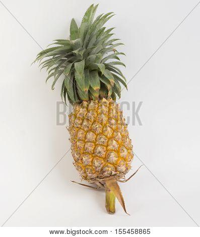 Fresh pineapple on white background,fruit in Thailand.