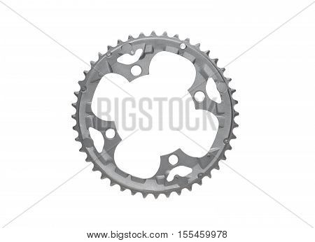 A chain ring for mountain bike with 44 teeth isolated
