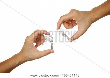 Success and failure / Business concept /  hands holding keys