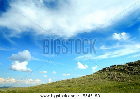 nature, the cloudy sky and part of mountain