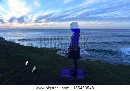 Sydney Australia - Nov 6 2016. Alessandra Rossi: Untitled Coral. Sculpture by the Sea along the Bondi to Coogee coastal walk is the world's largest free to the public sculpture exhibitions.