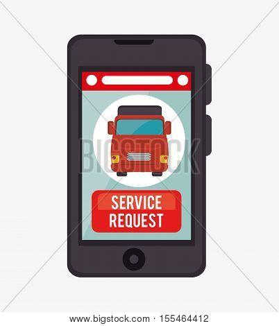 service request online aplication vector illustration eps 10