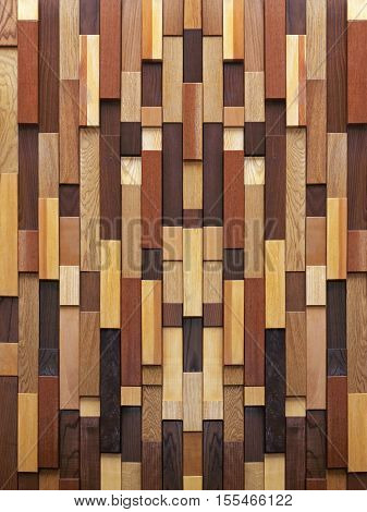 Wood Texture Made With Wooden Tiles Background