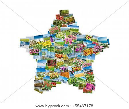 Various nature photos arranged in star shape
