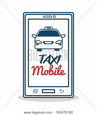 taxi service mobile aplication transport vector illustration eps 10