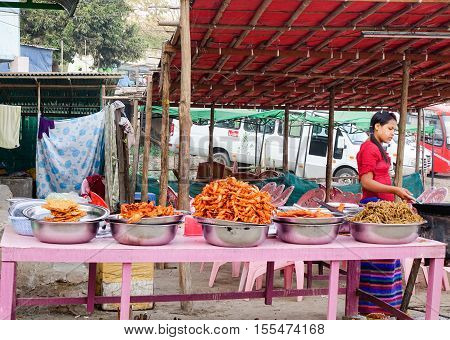Selling Foods In The Market