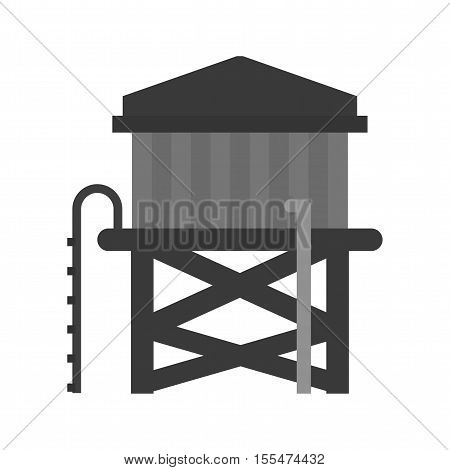 Cowboy, water, tower icon vector image.Can also be used for wild west. Suitable for mobile apps, web apps and print media.