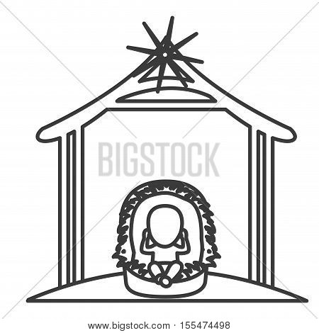 Baby jesus cartoon icon. Holy night family christmas and betlehem theme. Isolated design. Vector illustration