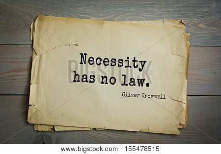 Top 15 quotes by Oliver Cromwell - English military and political leader , Lord Protector. 