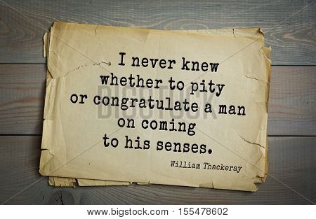 Top 30 quotes by William Thackeray - English writer of the XIX century.