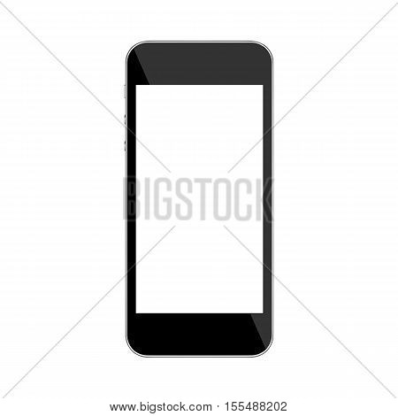 Smart phone isolated on white with clipping path.