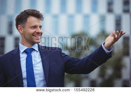 Close-up of handsome businessman