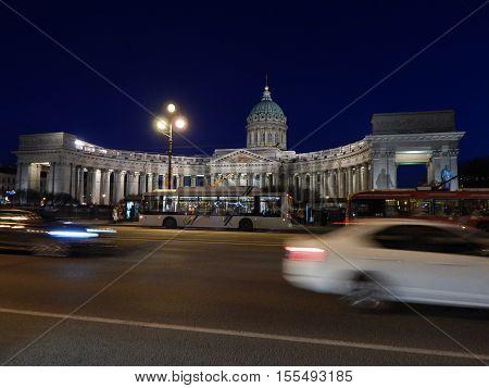 The Kazan Cathedral, Saint Petersburg, Russian Federation