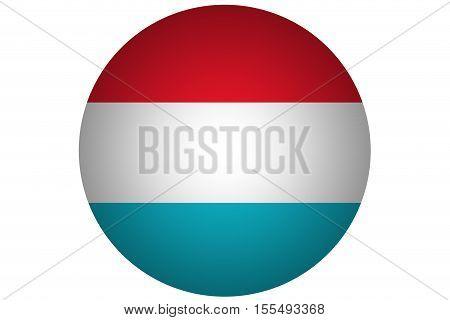 3D Luxemburg flag ,Luxemburg national flag illustration symbol.