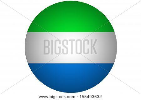 3D Sierra Leone flag ,Sierra Leone national flag illustration symbol.