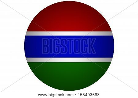 3D Gambia flag ,Gambia national flag illustration symbol.