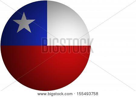 3D Chile flag ,Chile national flag illustration symbol.