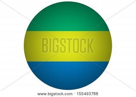 3D Gabon flag ,Gabon national flag illustration symbol.