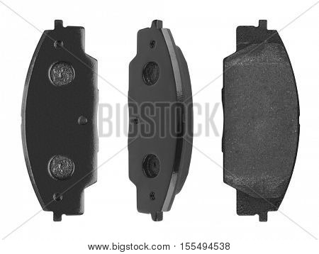 Car brake pads isolated on white background
