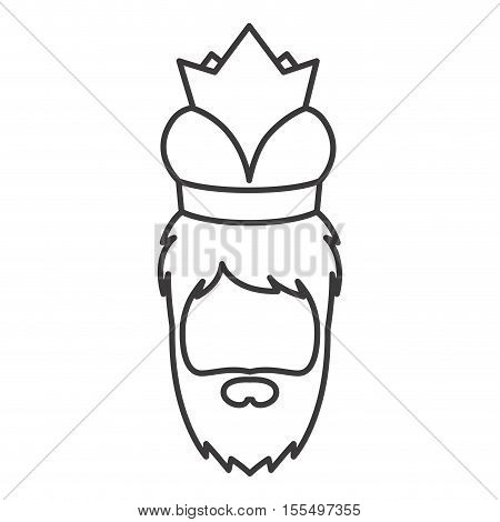 Wiseman cartoon icon. Happy epiphany day holy night and christmas theme. Isolated and silhouette design. Vector illustration