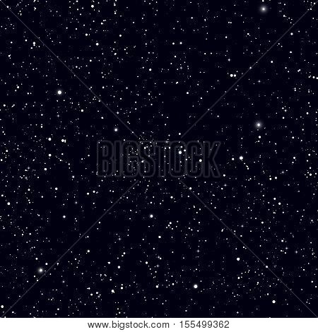 Space with stars vector background. Galaxy and planets in space cosmos pattern. Universe space infinity and starlight illustration