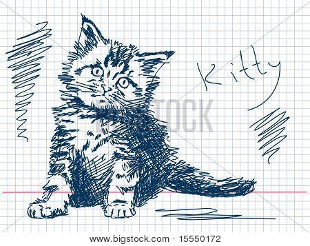 Hand drawn kitty
