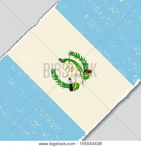 Guatemalan grunge flag diagonal background. Vector illustration.
