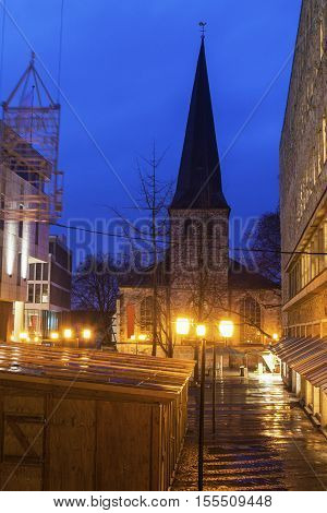 St. Johann Baptist Church in Essen. Essen North Rhine-Westphalia Germany