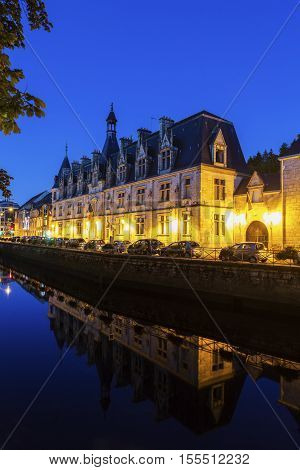 Quimper architecture along the river. Quimper Brittany France