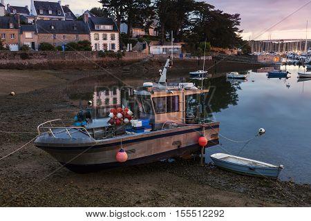 Le Moguer at sunrise. Le Moguer Brittany France