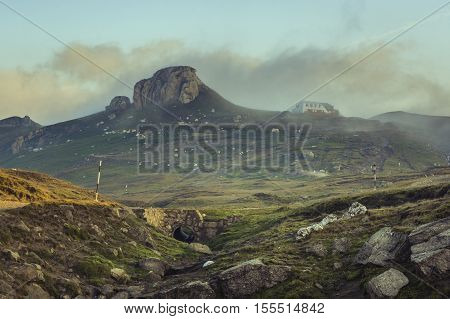 A Picturesque Mountain Landscape With The Bucegi Mountain Chain In Romania