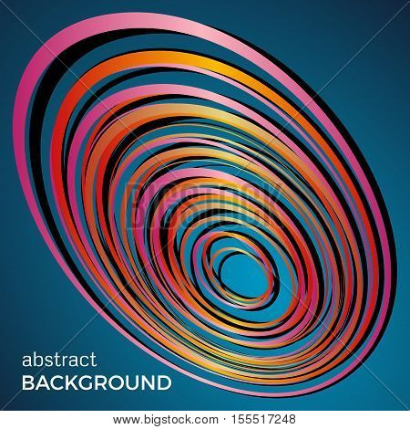 Beautiful light circles on a blue background. Abstract flash light circles. Vector technology background.