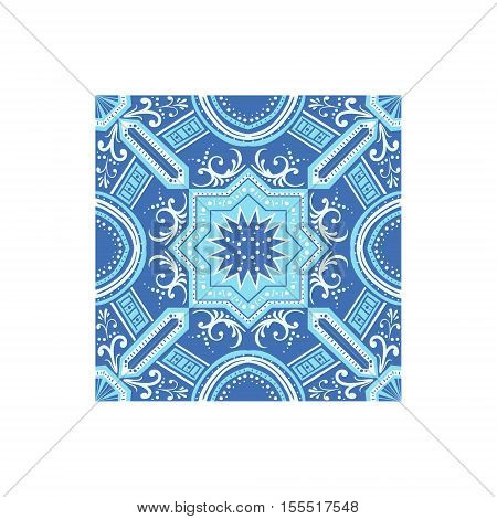 Azulejo Tilework Portuguese Famous Symbol. Touristic Well-known Emblems Of Portugal Simple Illustration Isolated On White Background.