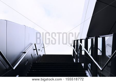 Stairway to heaven. Urban architecture. Urban landscape. Лестница в небо.