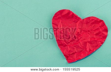 Broken Heart Shape Of Red Paper For Love Theme On Valentine Concept. Heart Paper, Heart Shape, Red H
