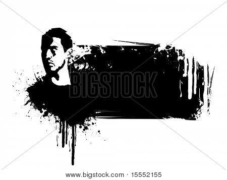 Its a grunge face vector design