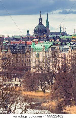 Stockholm Old Town Sweden. Stockholm city Sweden. Architecture of the center of Stockholm Sweden.