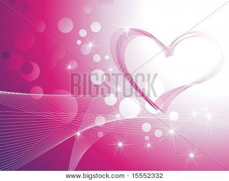 Beautiful shiny heart background vector