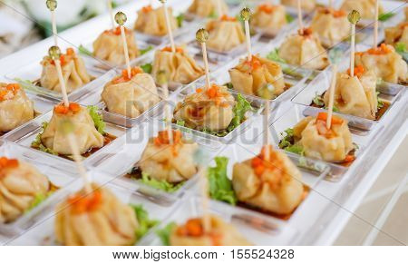 Chinese Steamed Dimsum Cocktail in The Wedding Day