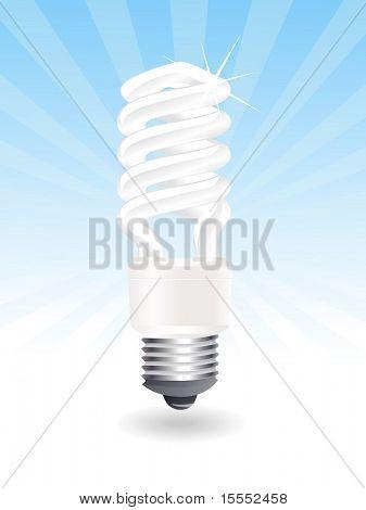 Ilustración de vector de una bombilla CFL