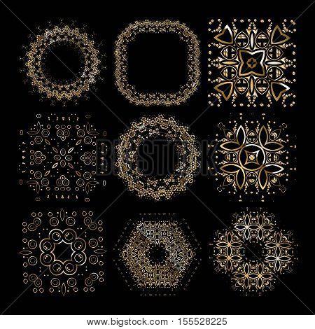 Gold Mandala Set,