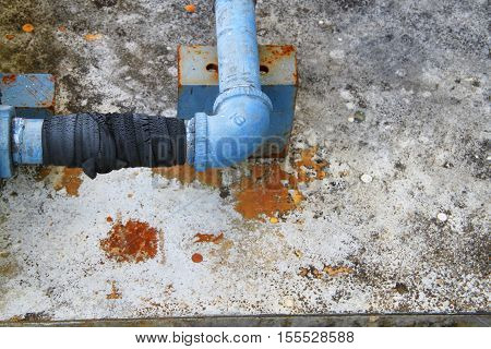 pipe water plumbing steel leak industrial the at bind with rubber