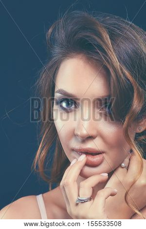 portrait of beautiful delicate woman