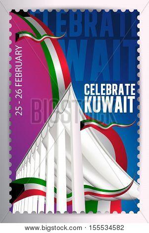 Celebrate Kuwait - National Assembly Landmark Stamp