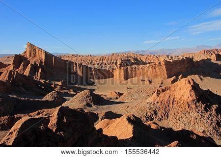 Amphitheater, valle de la Luna, Valley of the Moon, west of San Pedro, Atacama desert of Chile