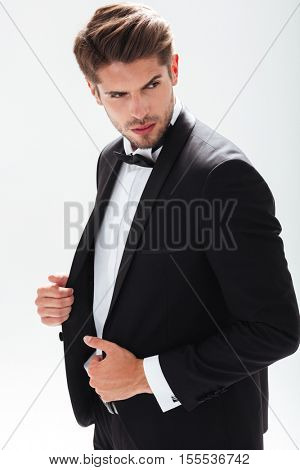 Cool model in suit