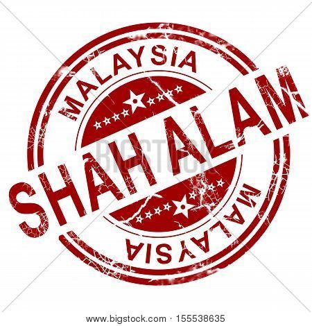 Red Shah Alam Stamp