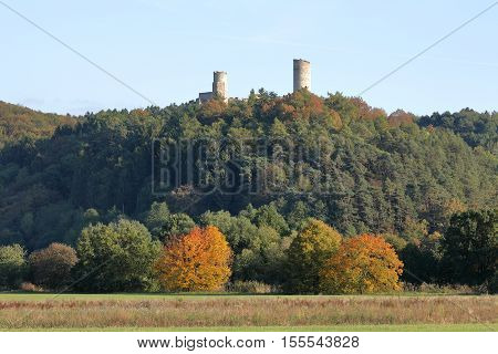 The castle ruin of Brandenburg in the Werra Valley
